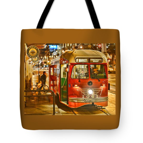 San Francisco's Ferry Terminal Tote Bag by Steve Siri