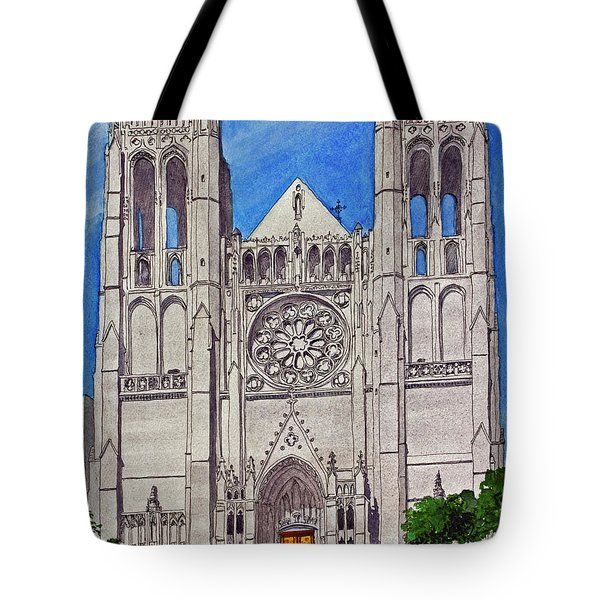 San Francisco's Grace Cathedral Tote Bag by Mike Robles