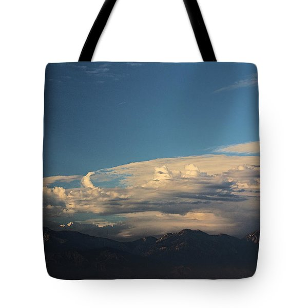 San Gabriel Mountains Clouds Formation   Tote Bag