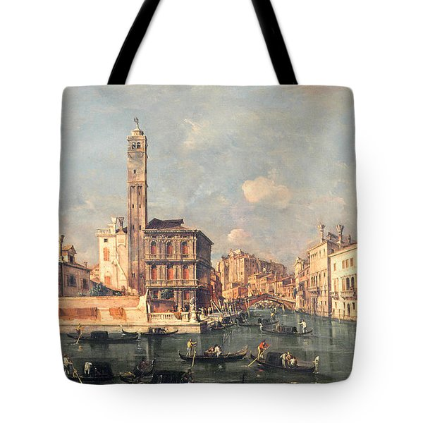 San Geremia And The Entrance To The Canneregio Tote Bag by Francesco Guardi