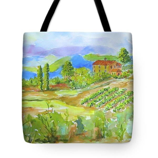 Vineyard At San Gimignano Tote Bag