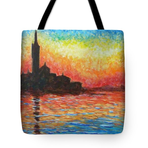 San Giorgio At Dusk Tote Bag