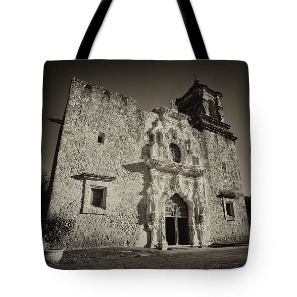 Tote Bag featuring the photograph San Jose Mission - San Antonio by Stephen Stookey