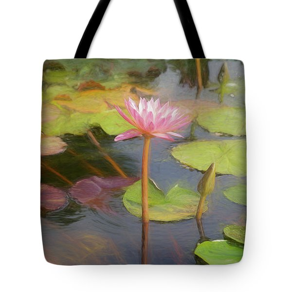 Tote Bag featuring the photograph San Juan Capistrano Water Lilies by Michael Hope