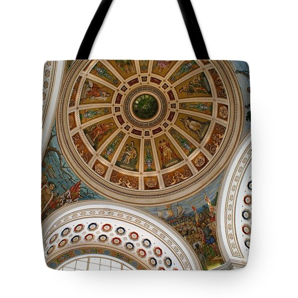 San Juan Capital Building Ceiling Tote Bag by Lois Lepisto