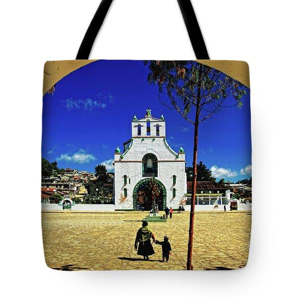Tote Bag featuring the photograph San Juan Chamula Church In Chiapas, Mexico by Sam Antonio Photography