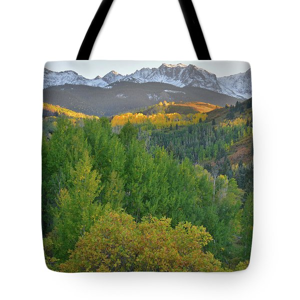 San Juan Mountain Sunset Tote Bag