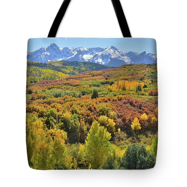 Tote Bag featuring the photograph San Juan Mountains From Dallas Divide by Ray Mathis