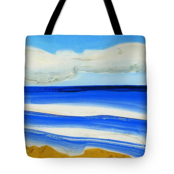 Tote Bag featuring the painting San Juan, Puerto Rico by Dick Sauer