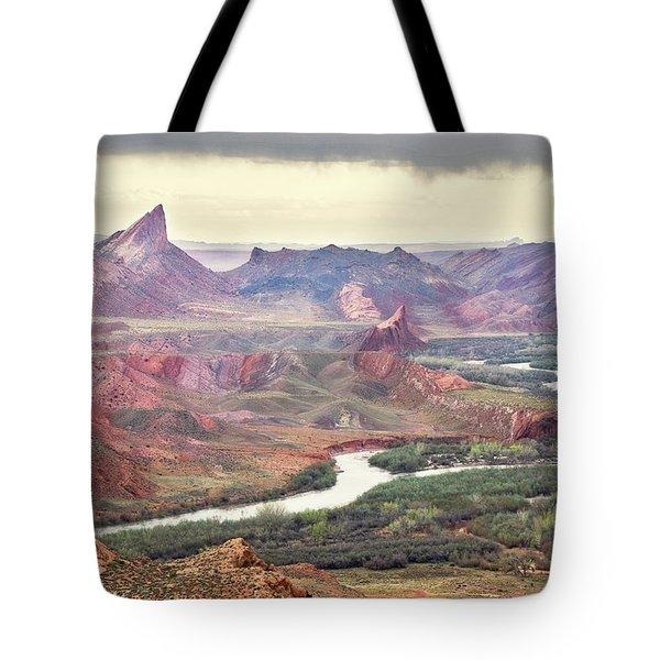 San Juan River And Mule's Ear Tote Bag