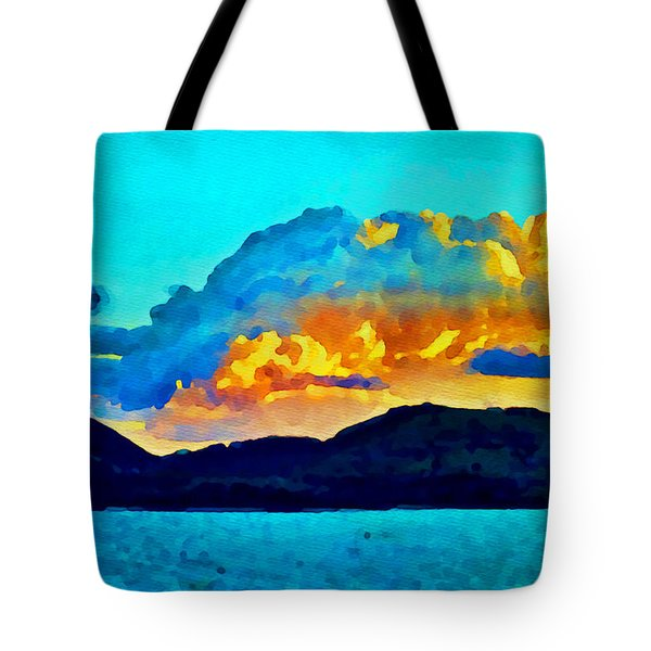 Tote Bag featuring the painting San Juan Seascape by Joan Reese