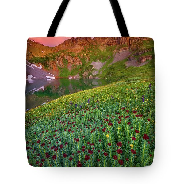 Tote Bag featuring the photograph San Juan Sunrise by Darren White
