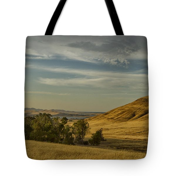 Tote Bag featuring the photograph San Luis Reservoir 9891 by Tom Kelly