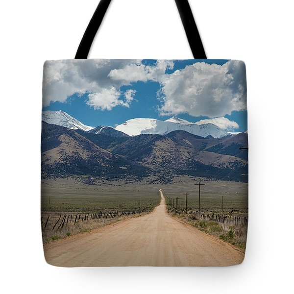 San Luis Valley Back Road Cruising Tote Bag by James BO Insogna