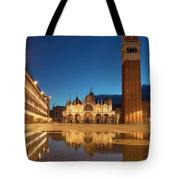 Tote Bag featuring the photograph San Marco Twilight by Brian Jannsen