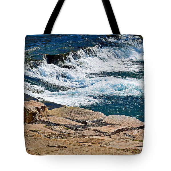 San Marcos River Waterfall  Tote Bag by Ray Shrewsberry