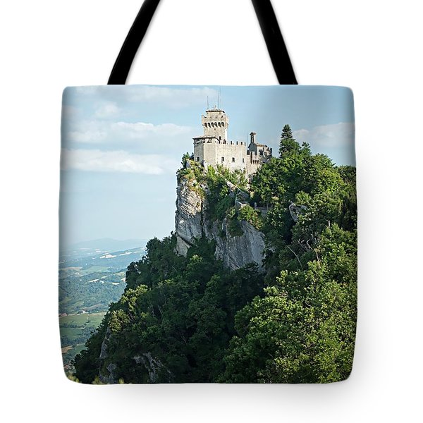 Tote Bag featuring the photograph San Marino - Guaita Castle Fortress by Joseph Hendrix