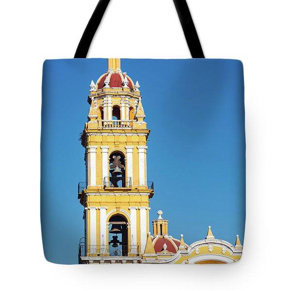 San Pedro Church Tower Tote Bag