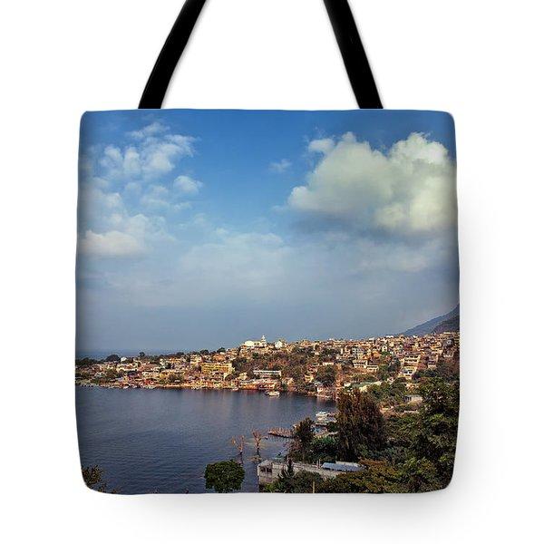 Tote Bag featuring the photograph San Pedro La Laguna, Lake Atitlan, Guatemala by Sam Antonio Photography