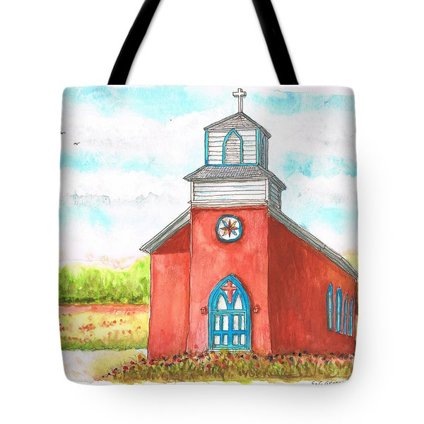 San Rafael Church In La Cueva, New Mexico Tote Bag