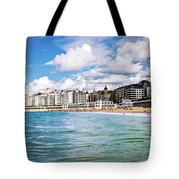 San Sebastian Tote Bag by Tetyana Kokhanets