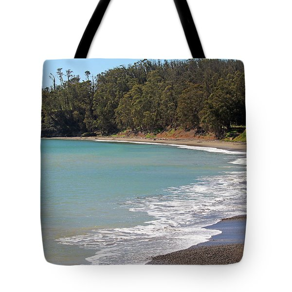 Tote Bag featuring the photograph San Simeon Cove by Art Block Collections