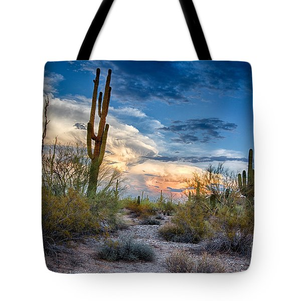 San Tan Mountain Park Sunset Tote Bag