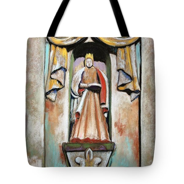 Tote Bag featuring the painting San Xavier Statue by M Diane Bonaparte