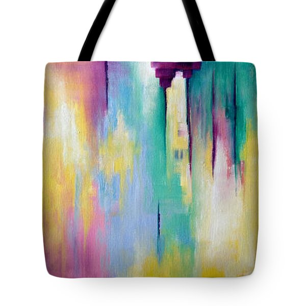 Tote Bag featuring the painting Sanctuary #2 by Suzzanna Frank