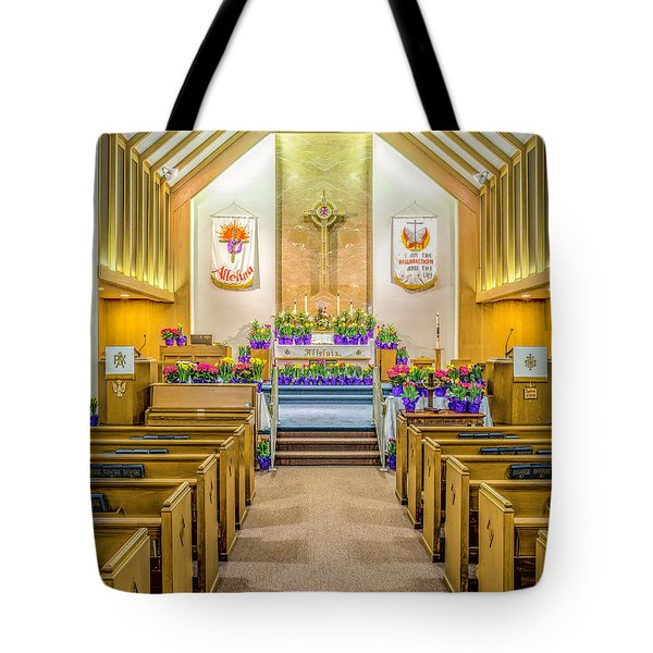 Tote Bag featuring the photograph Sanctuary At Easter by Nick Zelinsky
