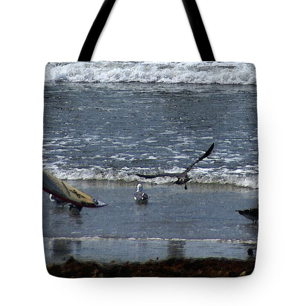 Sand And Surf Tote Bag by Linda Shafer