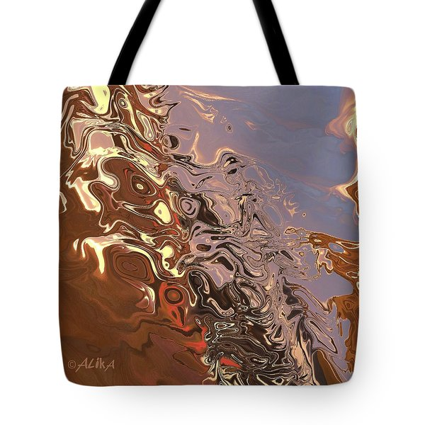 Sand Bank Tote Bag by Alika Kumar