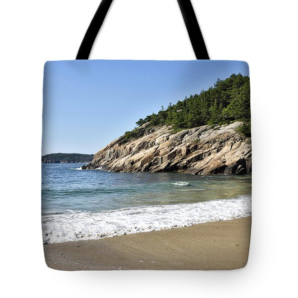 Sand Beach - Acadia National Park - Maine Tote Bag by Brendan Reals