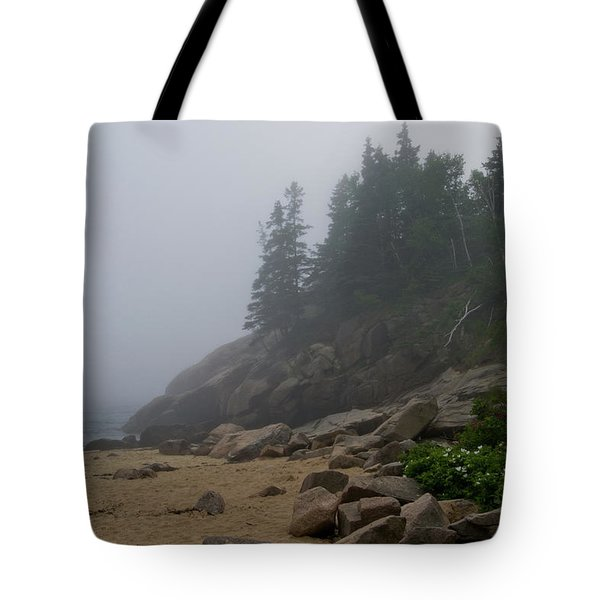 Sand Beach In A Fog Tote Bag