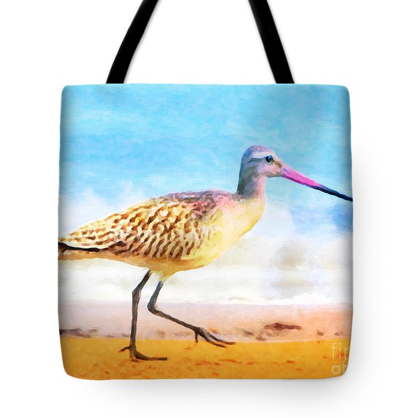 Tote Bag featuring the painting Sand Between My Toes ... by Chris Armytage