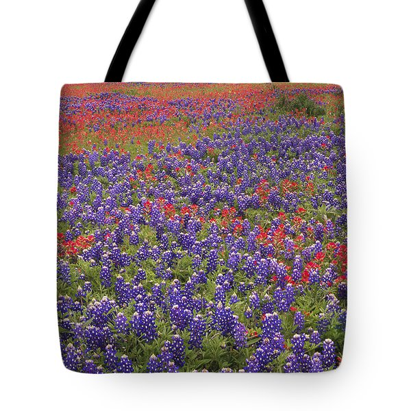 Tote Bag featuring the photograph Sand Bluebonnet And Paintbrush by Tim Fitzharris