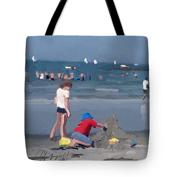 Sand Castles And Sailboats At Wingaersheek Beach Tote Bag