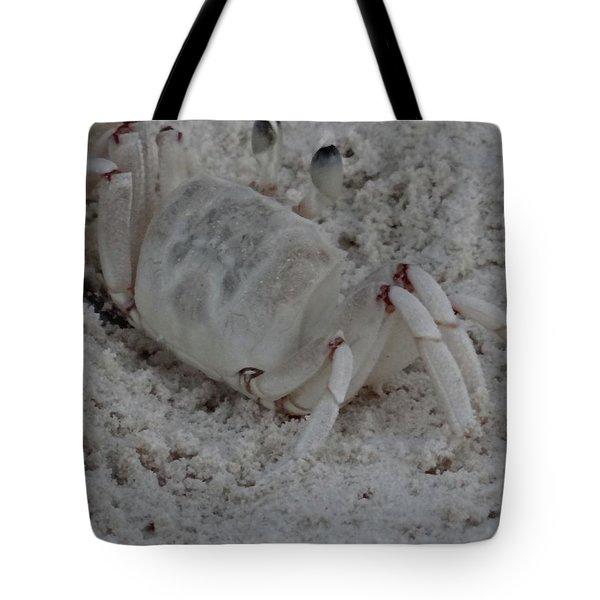 Sand Crab Tote Bag