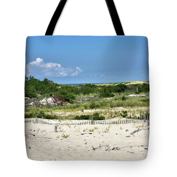 Tote Bag featuring the photograph Sand Dune In Cape Henlopen State Park - Delaware by Brendan Reals