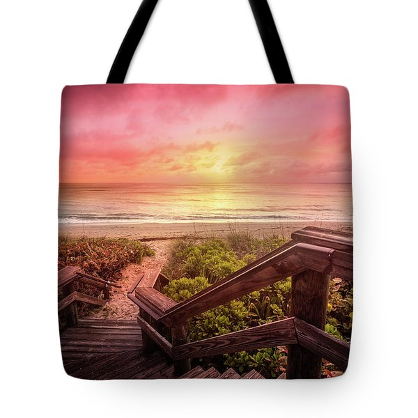 Tote Bag featuring the photograph Sand Dune Morning by Debra and Dave Vanderlaan