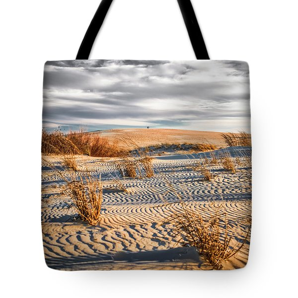 Sand Dune Wind Carvings Tote Bag