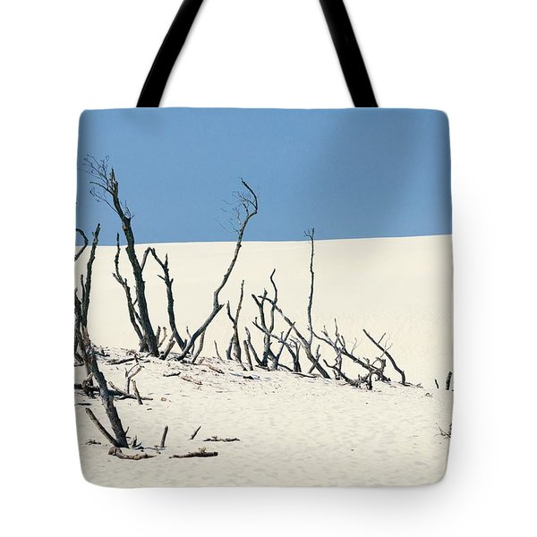 Sand Dune With Dead Trees Tote Bag by Chevy Fleet