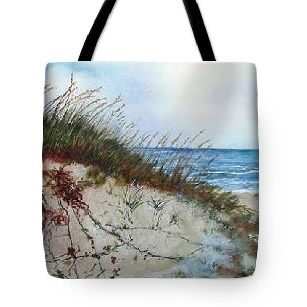 Sand Dunes And Sea Oats Tote Bag