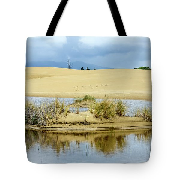 Sand Dunes And Water Tote Bag