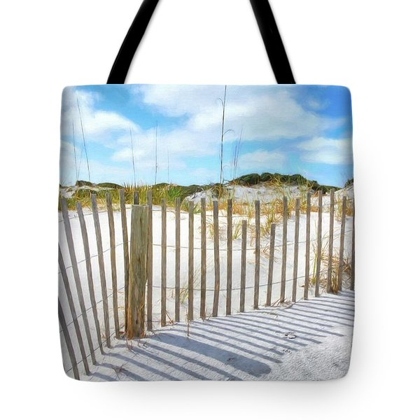 Tote Bag featuring the photograph Sand Dunes At Grayton Beach # 2 by Mel Steinhauer