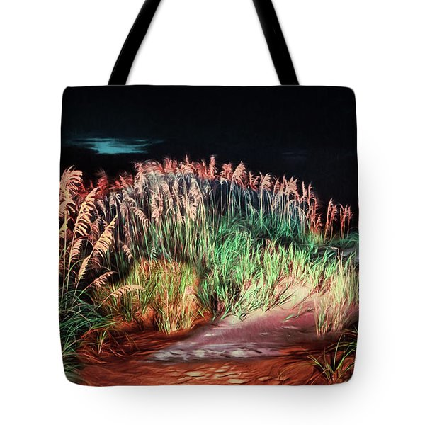 Sand Dunes At Night On The Outer Banks Ap Tote Bag