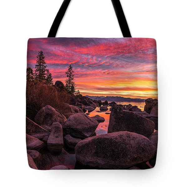 Sand Harbor Beach Tote Bag