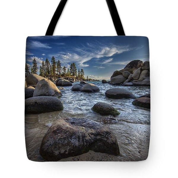 Sand Harbor II Tote Bag by Rick Berk