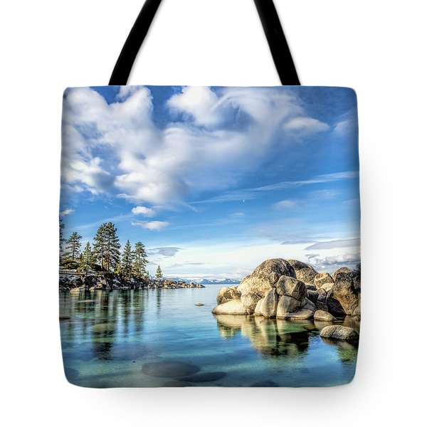 Sand Harbor Morning Tote Bag