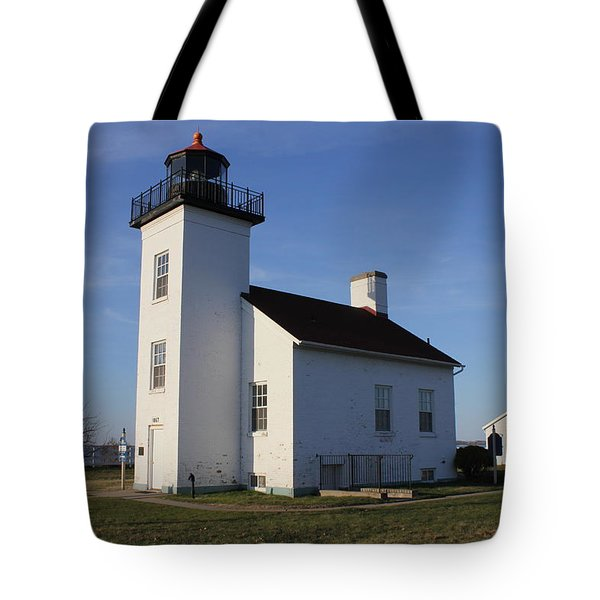 Sand Point Lighthouse In Escanaba Tote Bag